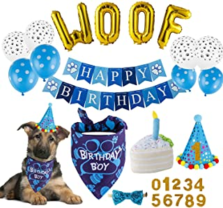 Ready to Hang Dog Cat Kids Adults Birthday Party Favors Supplies Dog Birthday Party Supplies for Birthday Party Decorations Lovely Colorful Happy Birthday Banner