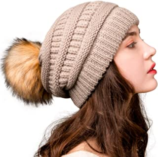 Womens Winter Knit Slouchy Beanie Hat Warm Skull Ski Cap...