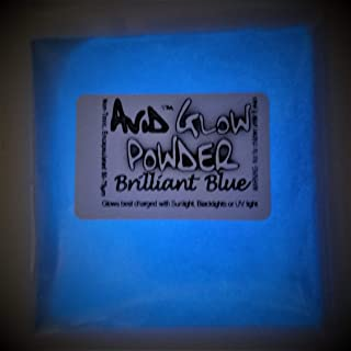 Glow Powder; Fluorescent Blue in Daylight Sky Blue Glow in Dark; 1oz (30g); Glow in The Dark Pigment Powder for Resin, Slime, Nail Polish, Paints, Coatings, Acrylic Powder