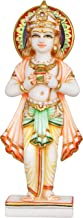 The Hindu God Kubera Blessing us with The Pot of Wealth - White Marble Statue