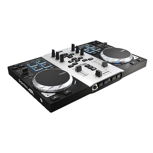 Hercules DJControl Air S Series - Contrôleur DJ USB à deux Platines, avec Carte son, 8 pads et Capteur de Proximité pour Activer la Fonction AIR - pour PC et Mac