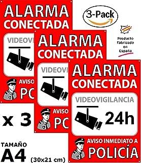 Pack o Lote de 3 Carteles disuasorios A4 Interior/Exterior