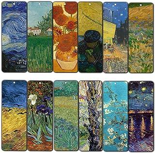 Creanoso Van Gogh Quotes Bookmarks (12-Pack) – Premium Gift Set – Inspiring Classical Art Sayings Set – Great Bookmarker C...