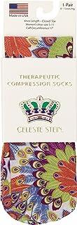 Celeste Stein Therapeutic Compression Socks, Bright Peacock, 8-15 Mmhg, Mild