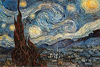 Starry Night, c. 1889 Poster by Vincent Van Gogh 36 x 24in
