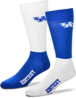 Men's NCAA 4-Square Mismatch Dress Socks-Size Large (10-13)