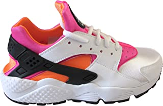 Women's Air Huarache Run Low-Top Sneakers ( WHITE/PINK/YELLOW / 75 )