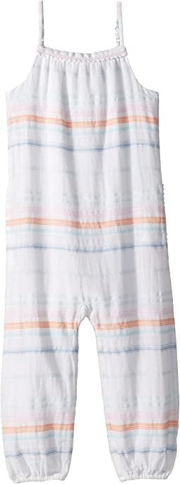 Striped Cotton Dobby Jumpsuit (Toddler)