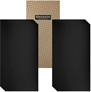 Genesis 2ft x 4ft Smooth Pro Black Ceiling Tiles - Easy Drop-in Installation – Waterproof, Washable and Fire-Rated - High-Grade PVC to Prevent Breakage - Package of 10 Tiles