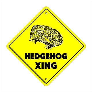 Hedgehog Crossing Sign Zone Xing | Indoor/Outdoor | 12