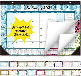 Desk Calendar 2021-2022: Large Monthly Pages 17 x 11-1/2 Inches Runs from January 2021 Through June 2022-18 Monthly Desk/W...