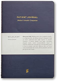 Goldleaf Patient Journal: A Medical Cannabis Therapy Logbook, Marijuana Dosing Notebook, Guided Pages and Infographics, A5...