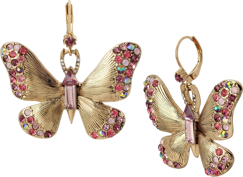 Betsey Johnson Butterfly Drop Earrings