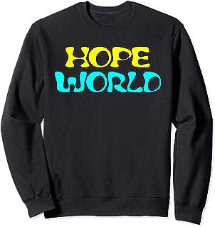 Hope World Kpop Sweatshirt, Funny K- pop Korean Style Gift T