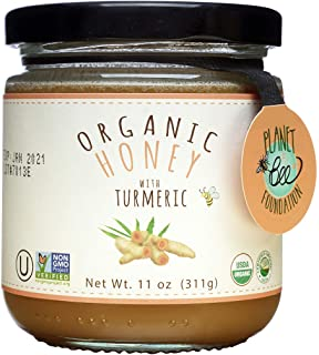 GREENBOW Organic Honey with Turmeric - 100% USDA Certified Organic, Gluten Free, Non-GMO Organic Turmeric Honey - Highest ...