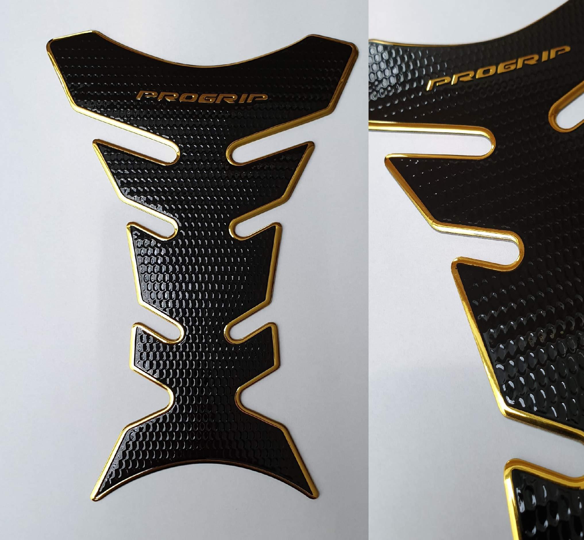 Protector de depósito, diseño de motocicleta, color dorado y negro: Amazon.es: Coche y moto