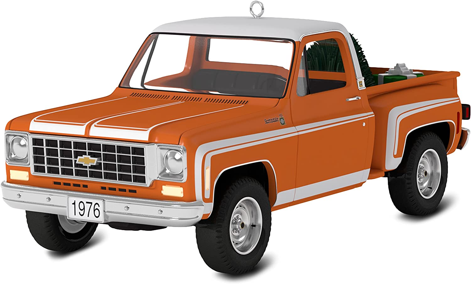 Hallmark Keepsake 2017 All-American Trucks 1976 Chevrolet C-10 Sport Dated Christmas Ornament