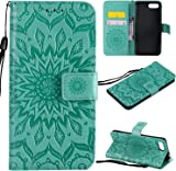 f�r Huawei Honor 10 H�lle,Gepr�gte Muster Handy h�lle/Tasche / Cover/Case f�r das Huawei Honor 10 PU Leder Flip Cover Leder H�lle Standfunktion Kredit Kartenf�cher (S) (6)