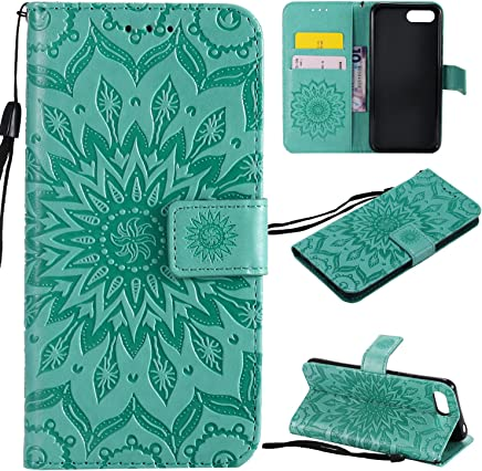 f�r Huawei Honor 10 H�lle,Gepr�gte Muster Handy h�lle/Tasche / Cover/Case f�r das Huawei Honor 10 PU Leder Flip Cover Leder H�lle Standfunktion Kredit Kartenf�cher (S) (6) : B�cher