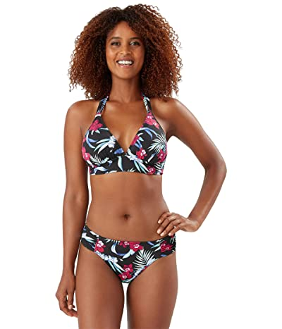 Tommy Bahama Midnight Orchid Reversible Strap Halter (Black Reversible) Women