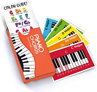 Made With Tone Piano Chords Flash Cards, a Great Gift for Music Lovers and Beginner Musicians! All The Major Chords and Notes for Keyboard!