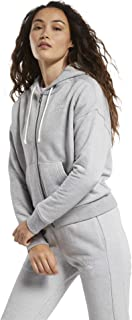 Reebok Women's TE Textured Logo FullZip Sweatshirt, Brgrin, XL
