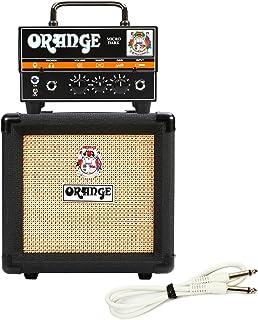 Orange Micro Dark Terror Hybrid Amp Head Mini Stack Combo w/ Cabinet and Speaker Cable, Black