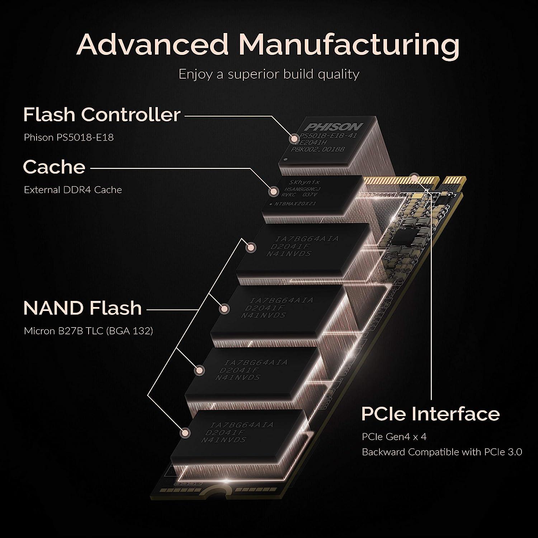 Sabrent Rocket 4 Plus SSD Interno M.2 NVMe PCIe 4.0 Gen4 da 1TB Unit/à di Memoria a Stato Solido dalle Massime Prestazioni SB-RKT4P-1TB