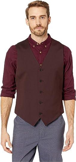 Slim Fit Stretch Twill Suit Vest