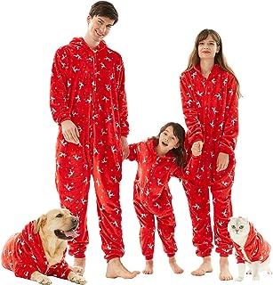 Pijama Hombre Mujer, Pijama en Tejido Franela Polar Suave y cómodo para Toda la Familia, excelente para Invierno