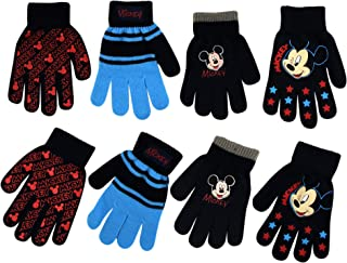 Little Boys Disney Assorted Designs 4 Pair Set, Mittens or Gloves, Age 2-4,or 4-7