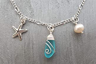 Handmade in Hawaii,Heart of the sea bracelet freshwater pearl, Hawaii Gift Wrapped, Customizable Gift Message Starfish charm