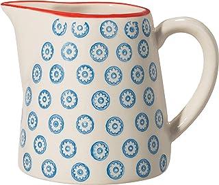 Bloomingville Pot de lait Emma, bleu, cramique