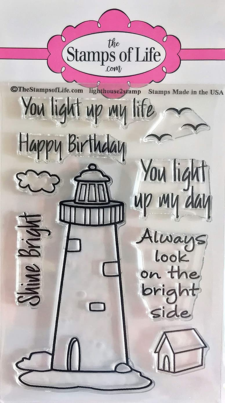 Optimistic Birthday Lighthouse Clear Stamps for Scrapbooking and Card-Making by The Stamps of Life - Lighthouse2Stamp