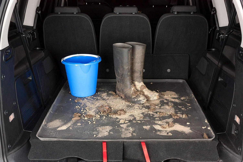 Walser Kofferraummatte Universal Kofferraumwanne Schmutzfangmatte Mehrzweckwanne Allwetter Gummimatte Größe Xl 100x90cm Auto
