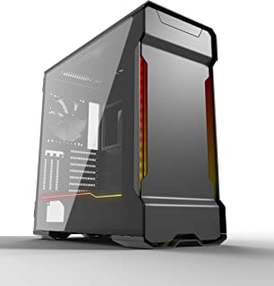 PHANTEKS PH-ES518XTG_DAG01 Enthoo Evolv X Midi-Tower - Cristal templado, color negro y gris