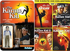 Karate Kid The Family Movie Sport Set DVD & Funko Reaction: Daniel Larusso Action Figure & 3 Karate Kid 1,2 & 3 + Remake Collection