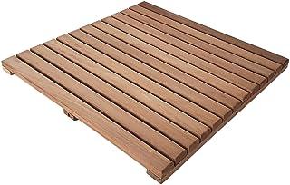 Loseta rígida en madera de teca tratada con aceite vegetal