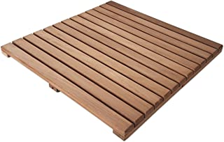 Loseta rígida en madera de teca tratada con aceite vegetal protector - Suelo exterior