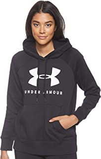 Under Armour Rival Fleece Sportstyle Graphic Hoodies for Women, Size Small, Black