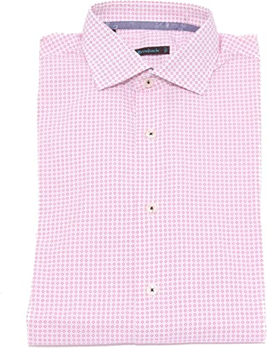 BROUBACK 1883X Camicia hommes blanc rose Cotton Shirt Man