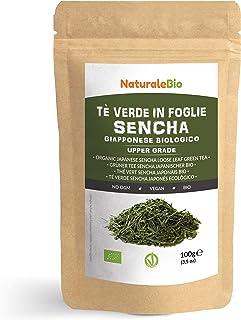 Té verde Sencha Japonés Orgánico [ Upper grade ] de 100g. 100% Bio, Natural y Puro, Té verde en hojas de la primera cosecha, cultivado en Japón. Organic Japanese Sencha Green Tea. NaturaleBio