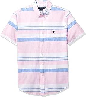 Men's Short Sleeve Striped Sport Shirt