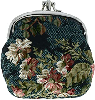 CTM Women's Floral Print Tapestry Coin Purse Wallet