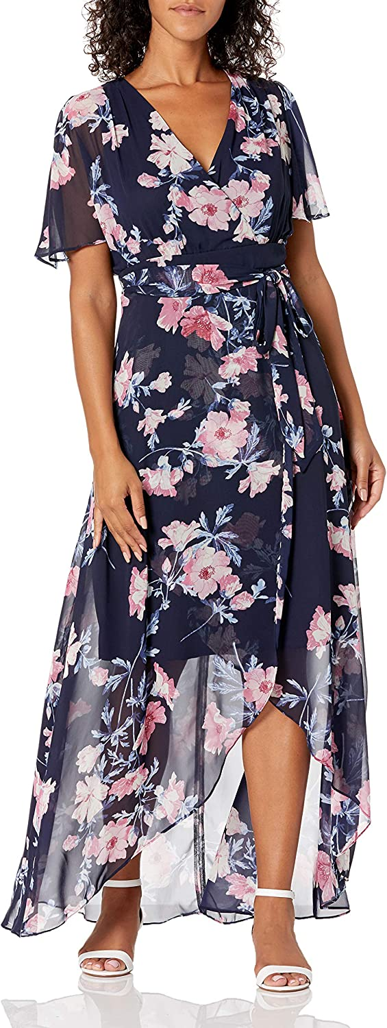Jessica Howard Women's Maxi Dress with Skirt Selling Low and Phoenix Mall Wrap T High