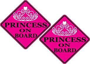 Rogue River Tactical Pink Princess On Board Sticker Car Window Decal Bumper for Girl Daughter Vehicle Safety Sticker Sign for Car Truck SUV (2)