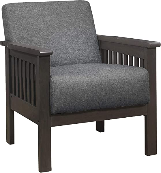 Lexicon Noel Fabric Accent Chair Gray