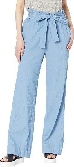 Paperbag Woven Long Pants in Denim