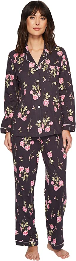 Carole Hochman Soft Jersey Notch Collar Pajama