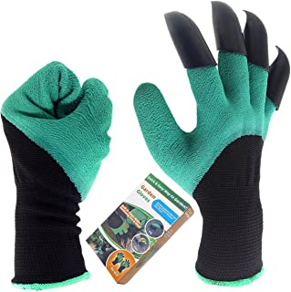 Garden Genie Gloves, Inf-way Right Hand Claws Gardening Gloves, Quick & Easy to Dig & Plant, Safe for Rose Pruning - As Se...